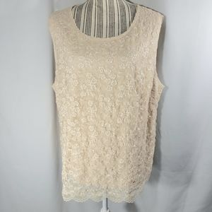 East 5th NWOT Lace Sleeveless Top Size 3X